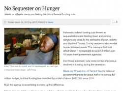 No Sequester on Hunger Screenshot