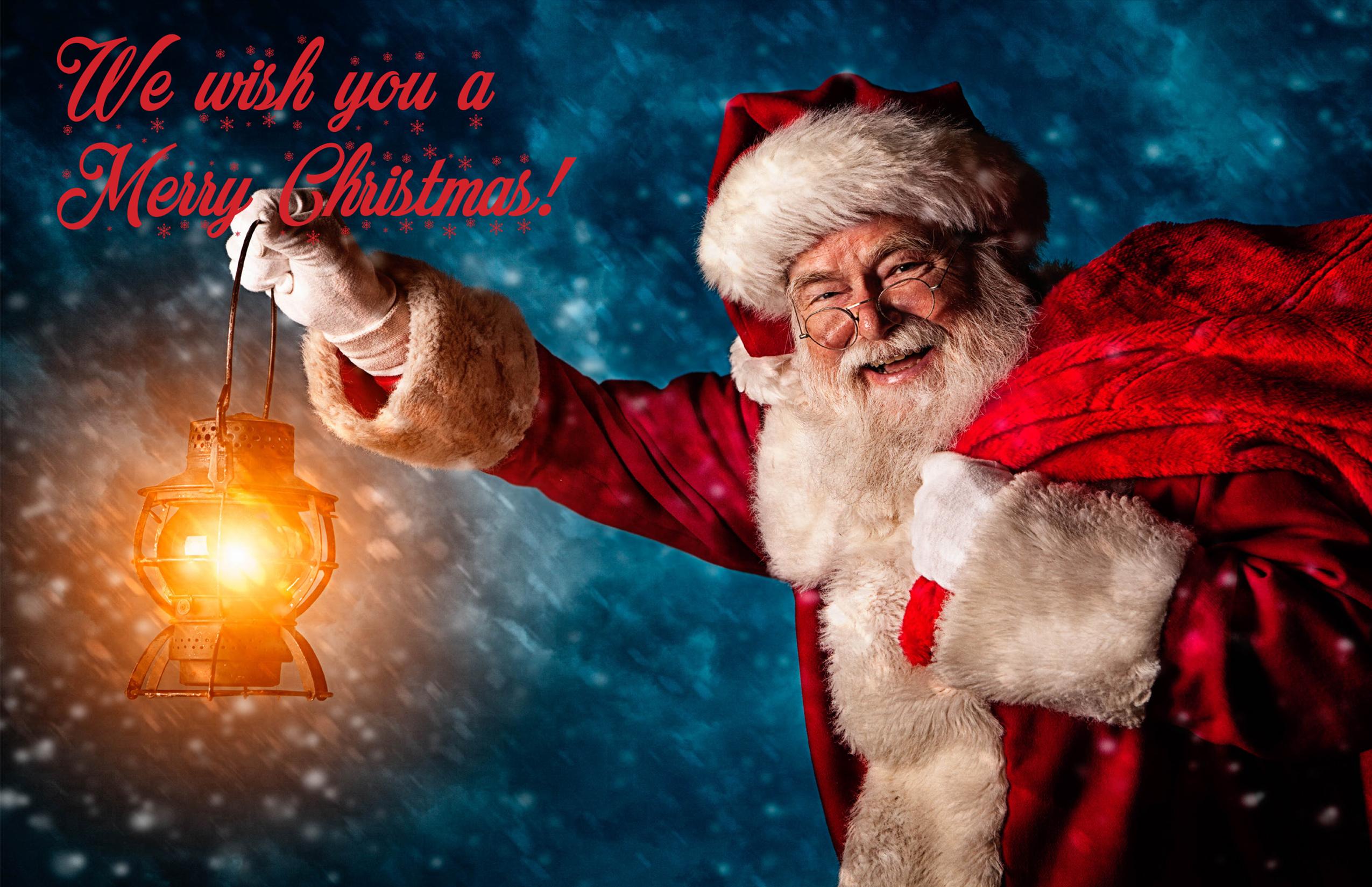 2020 Santa, We Wish You a Merry Christmas Greeting Card
